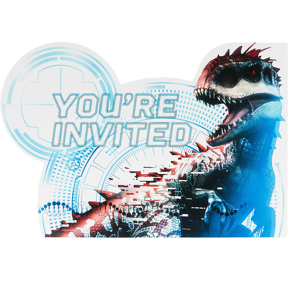 Jurassic World Invitations 8ct Image 1