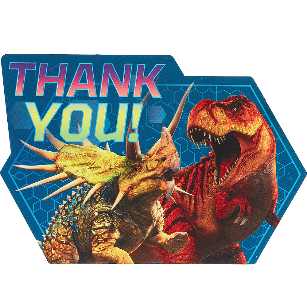 Jurassic World Thank You Notes 8ct Image #1