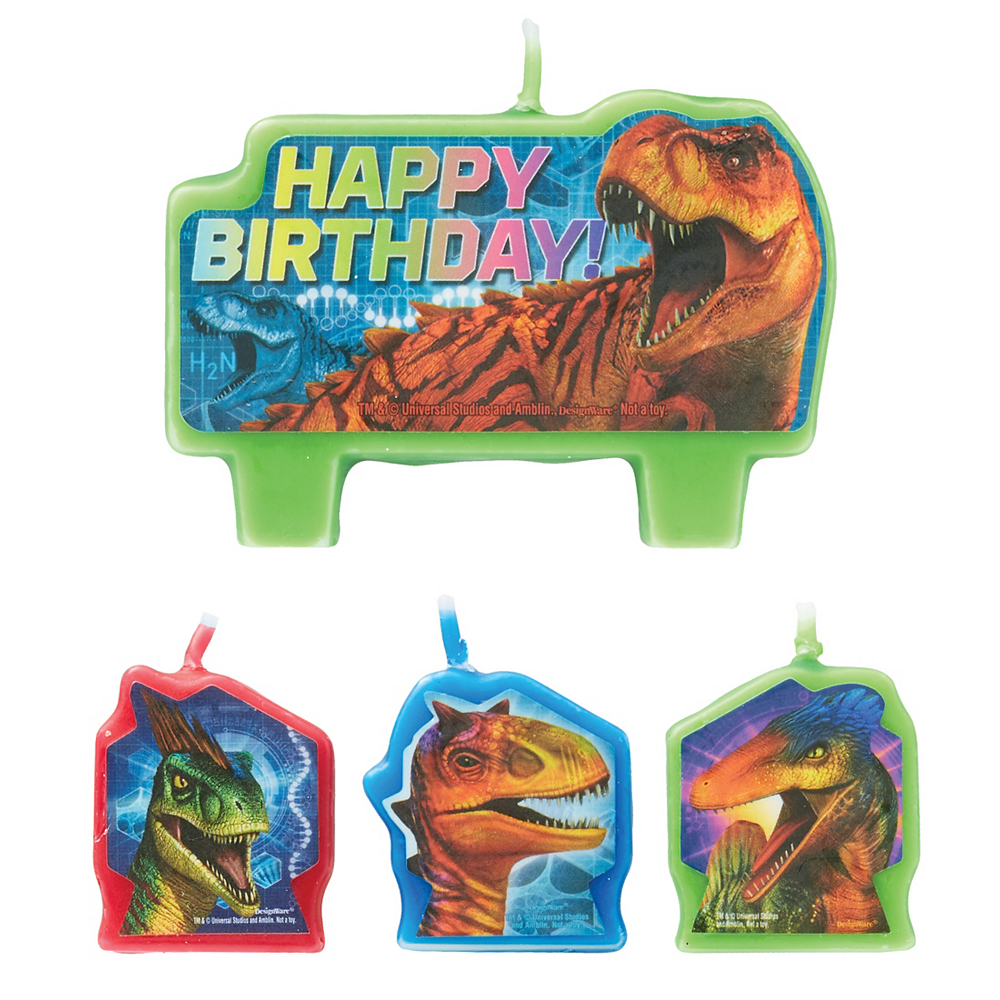 Nav Item for Jurassic World Birthday Candles 4ct Image #1