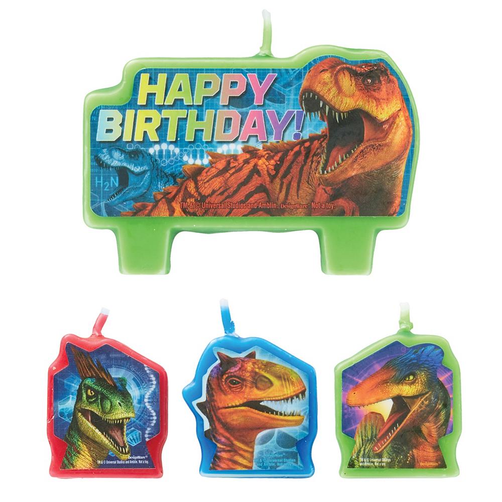 Jurassic World Birthday Candles 4ct Image 1