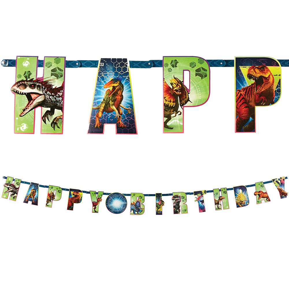 Jurassic World Birthday Banner Kit Image #1