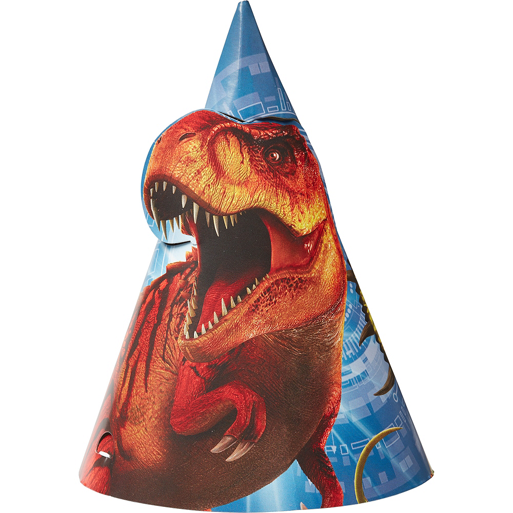 Jurassic World Party Hats 8ct Image #1
