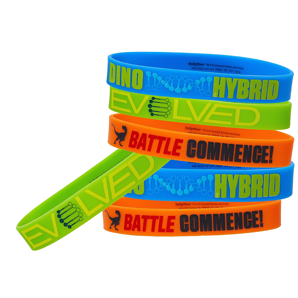 Jurassic World Wristbands 6ct Image #1