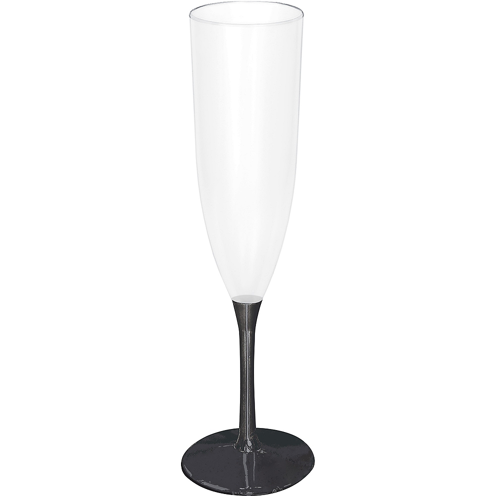 Black Base New Year's Champagne Flute Image #1