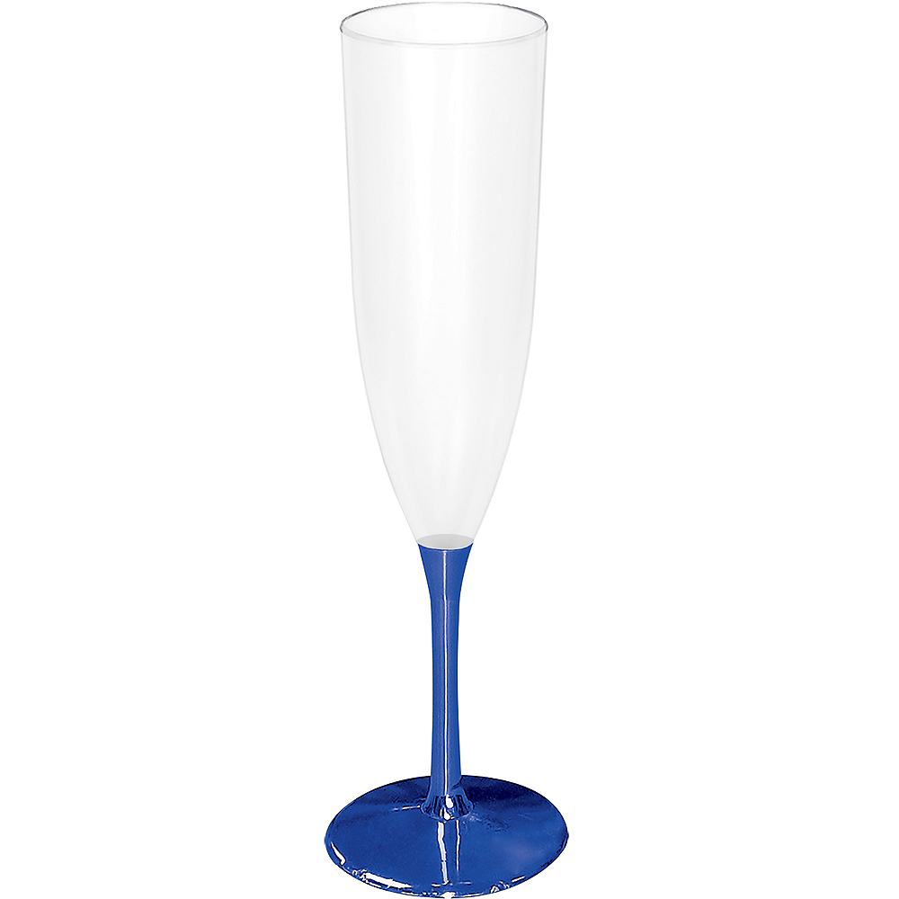 Blue Base New Year's Champagne Flute Image #1