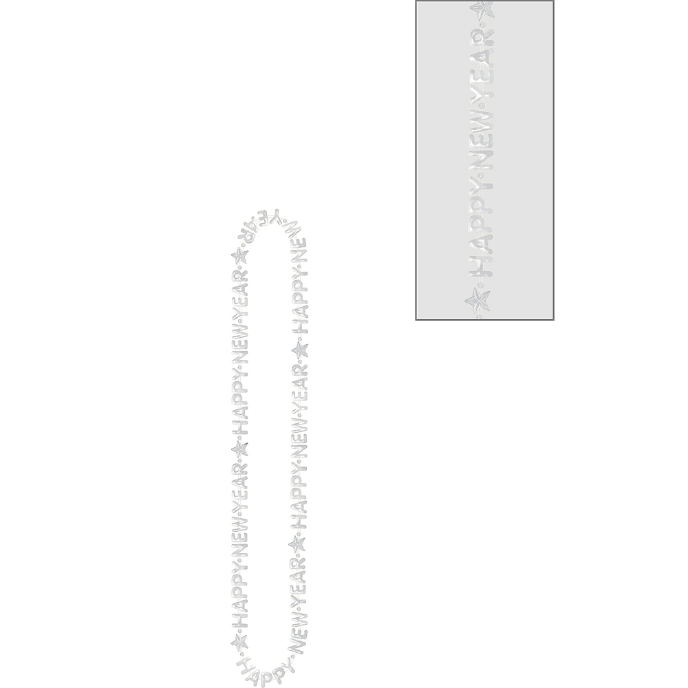 Silver Happy New Year Bead Necklace Image #1
