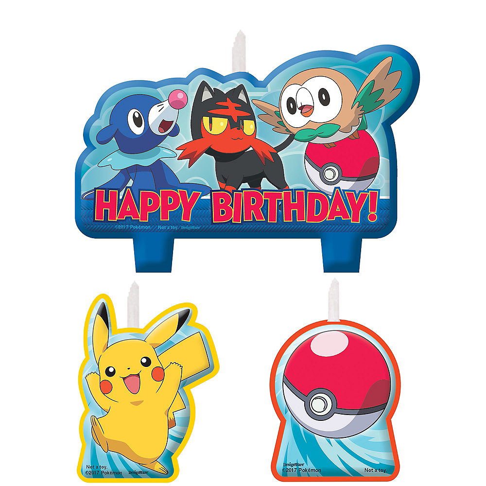 Nav Item for Pokemon Core Birthday Candles 4ct Image #1