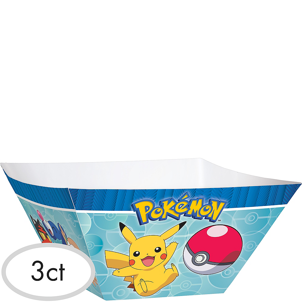 Pokemon Core Paper Serving Bowls 3ct Image #1