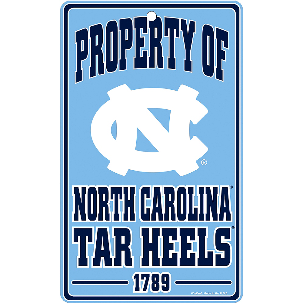 Property of North Carolina Tar Heels Sign Image #1