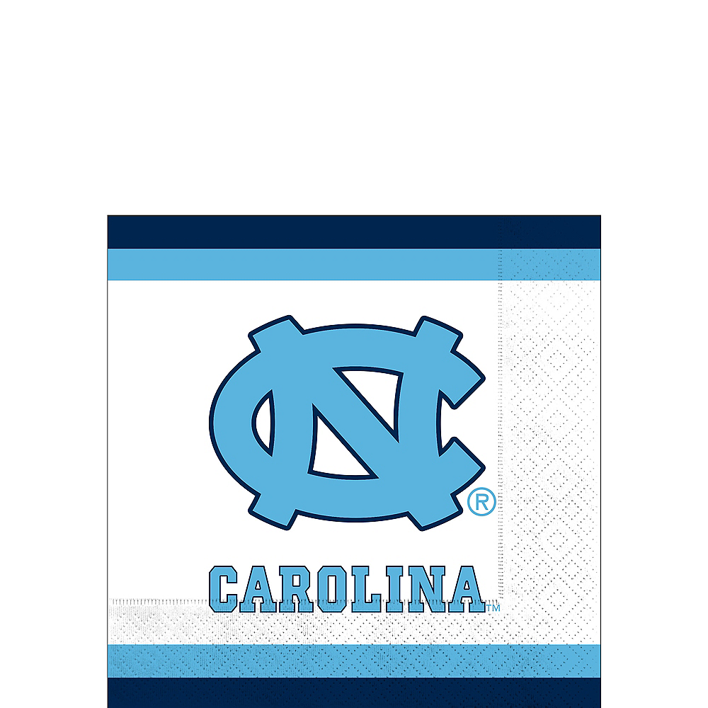 North Carolina Tar Heels Beverage Napkins 24ct Image #1