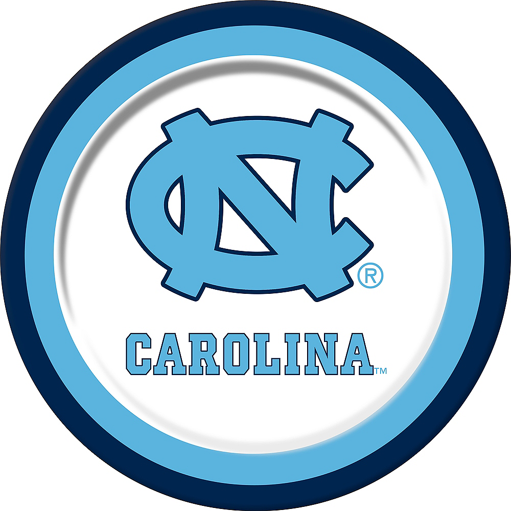 North Carolina Tar Heels Lunch Plates 10ct Image #1