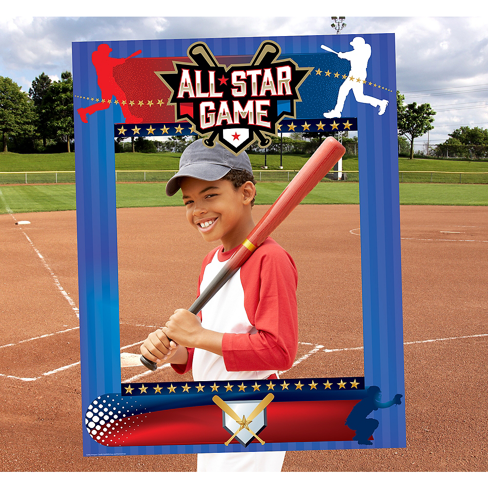 Mlb All Stars Wallpaper: Giant Baseball Photo Booth Frame 28in X 36in