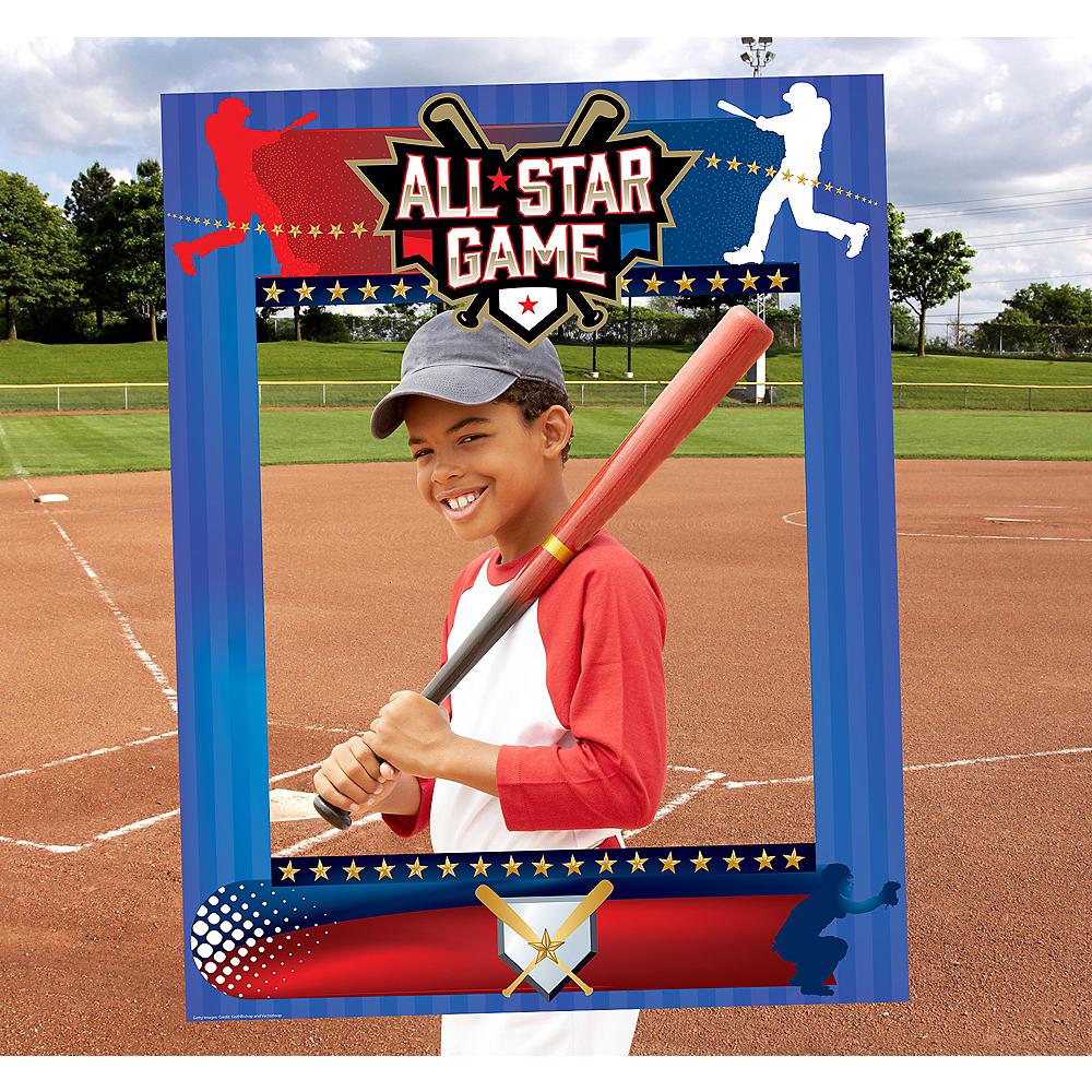 Giant Baseball Photo Booth Frame Image #1