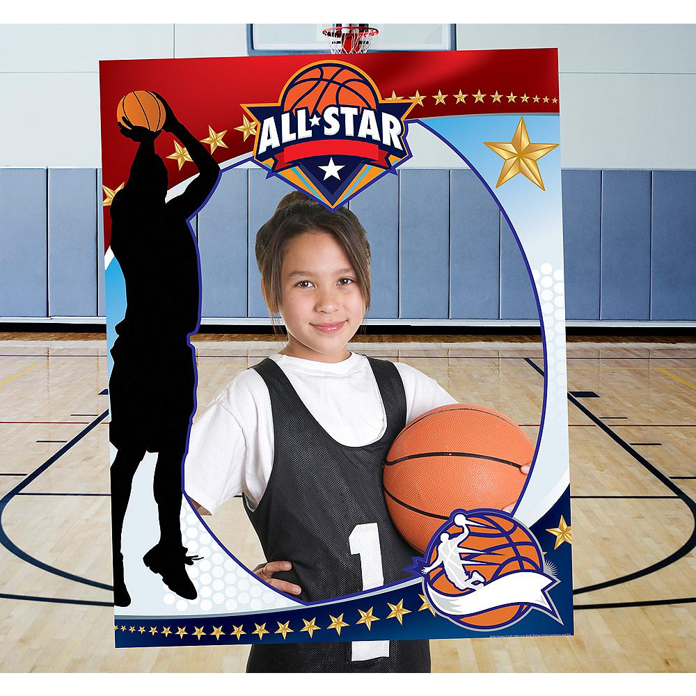 Giant Basketball Photo Booth Frame Image #1