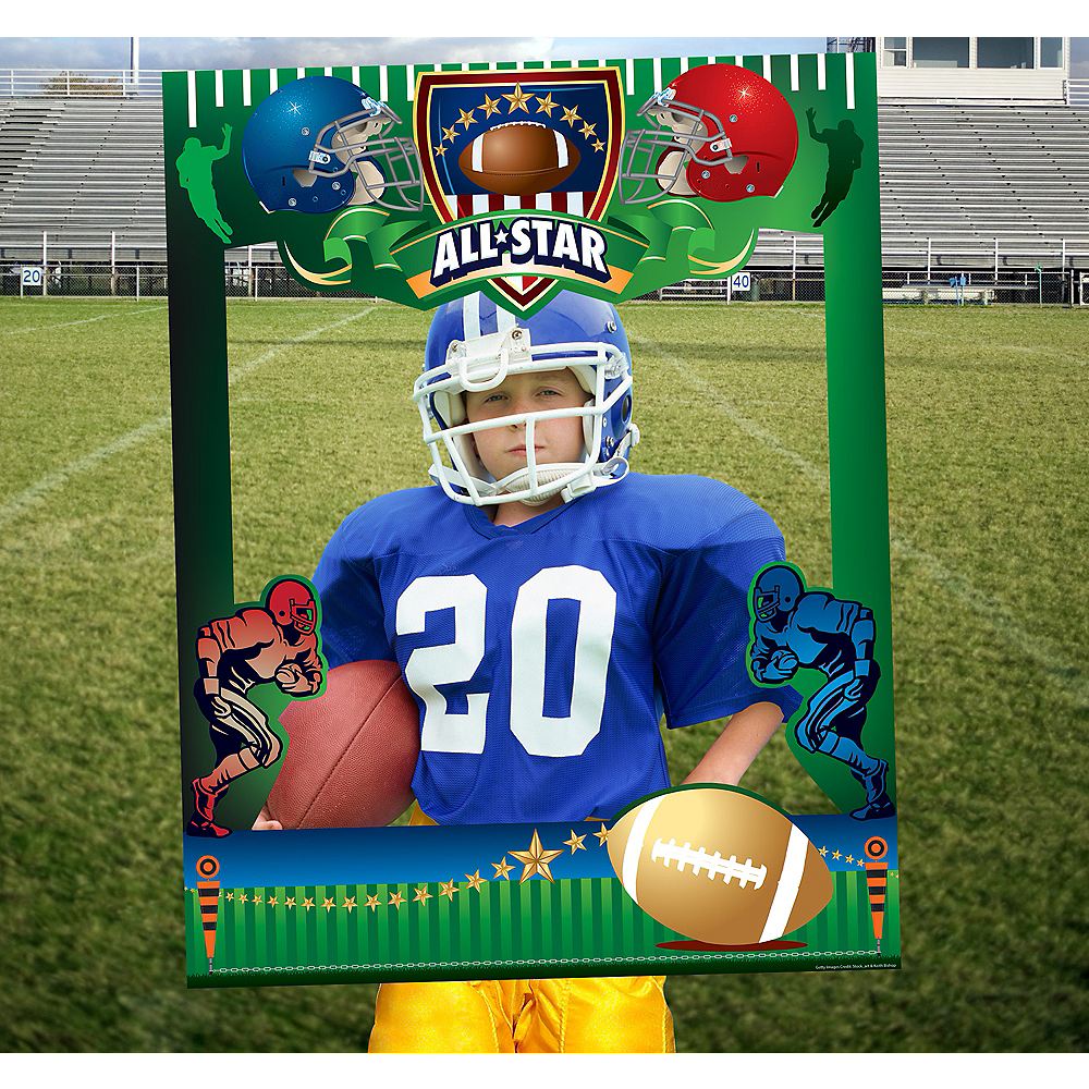 Giant Football Photo Booth Frame Image #1