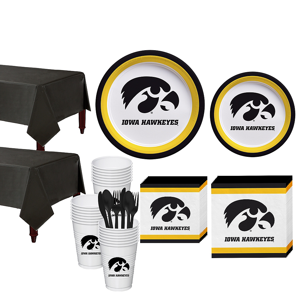 Iowa Hawkeyes Party Kit for 40 Guests Image #1