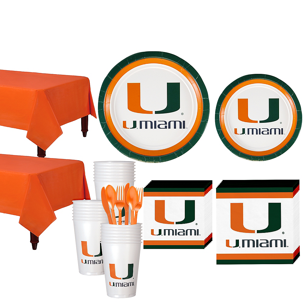 Miami Hurricanes Party Kit for 40 Guests Image #1