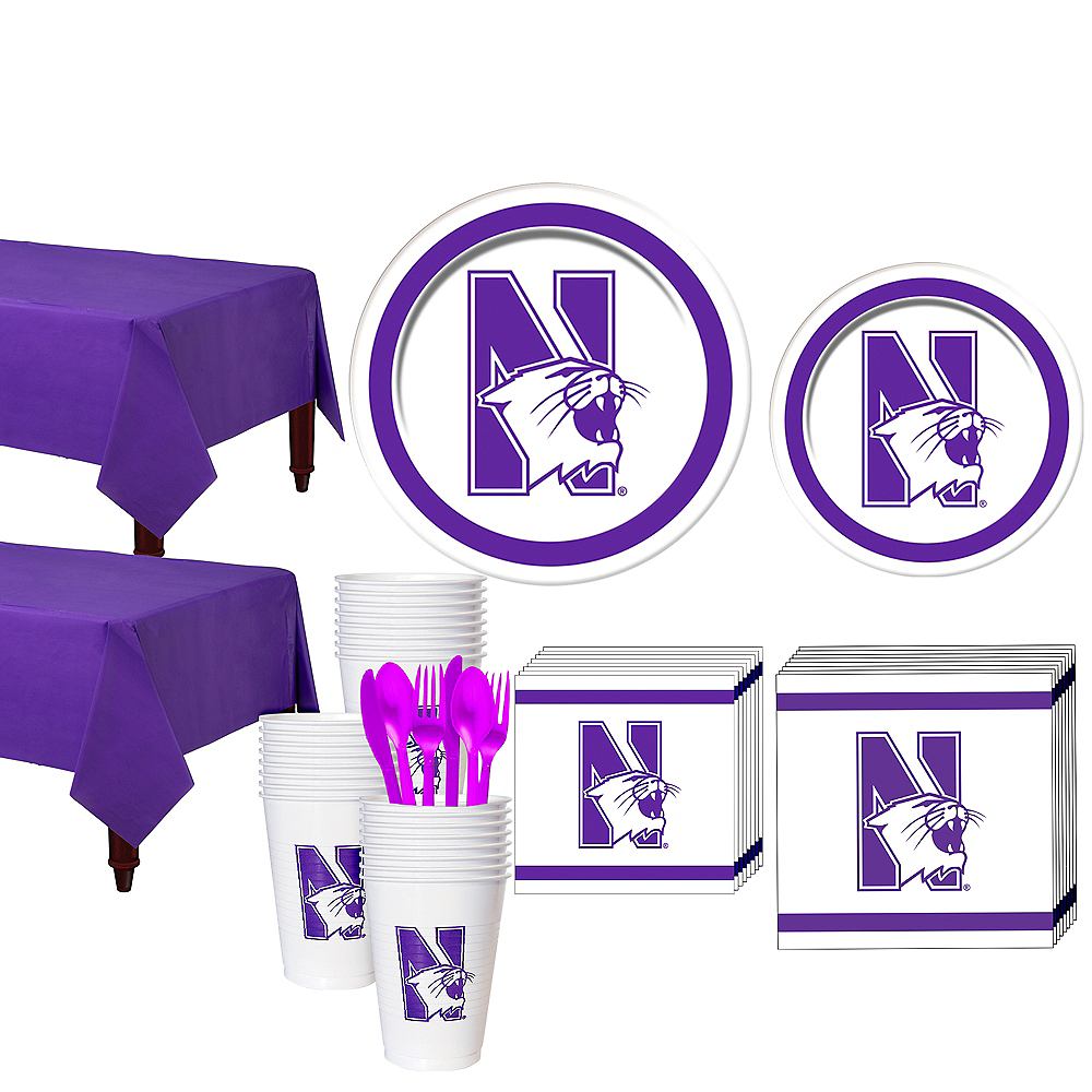 Northwestern Wildcats Party Kit for 40 Guests Image #1