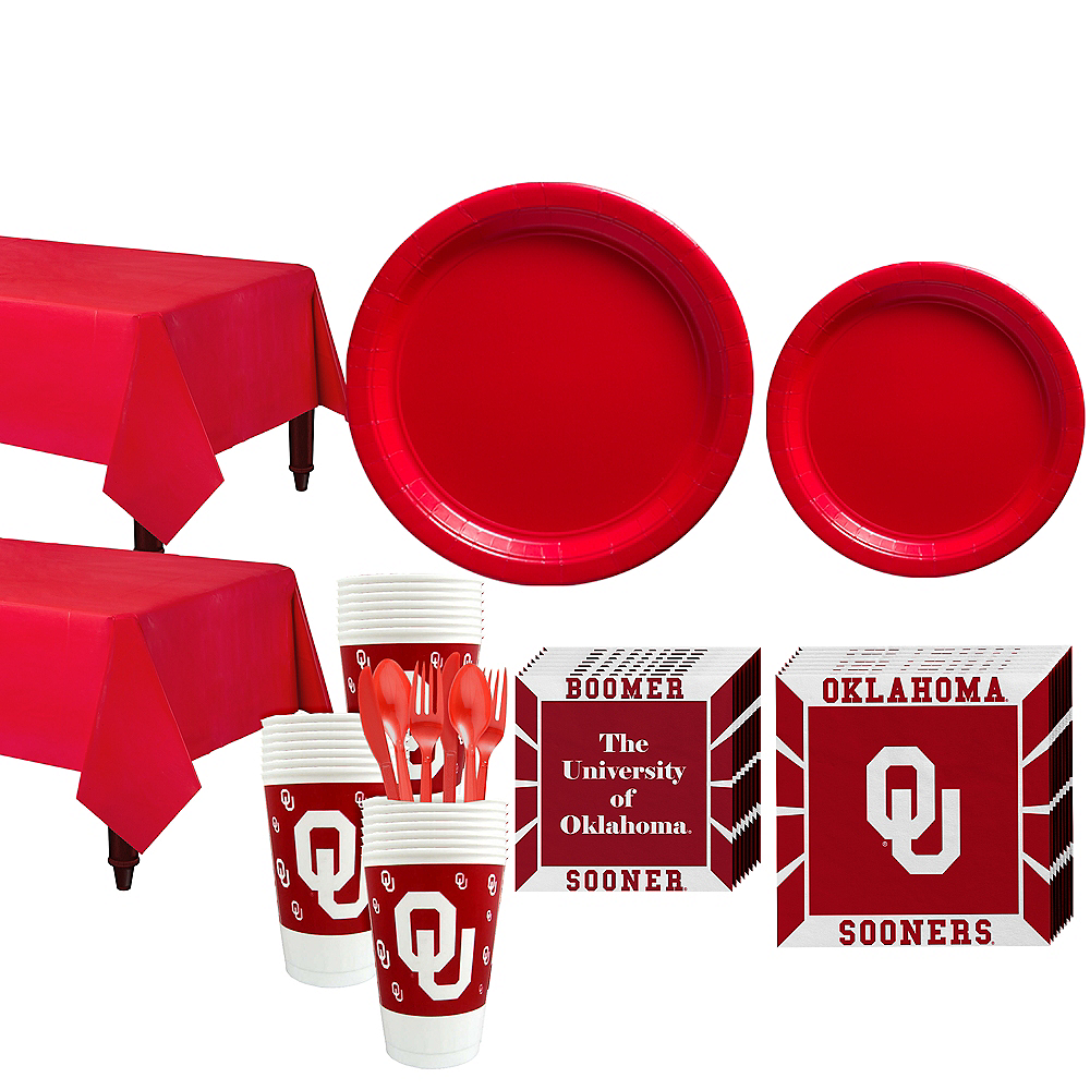 Nav Item for Oklahoma Sooners Party Kit for 40 Guests Image #1