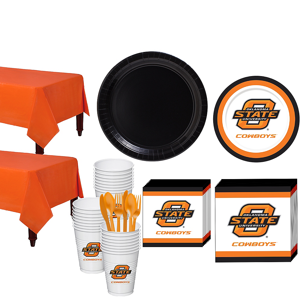 Oklahoma State Cowboys Party Kit for 40 Guests Image #1