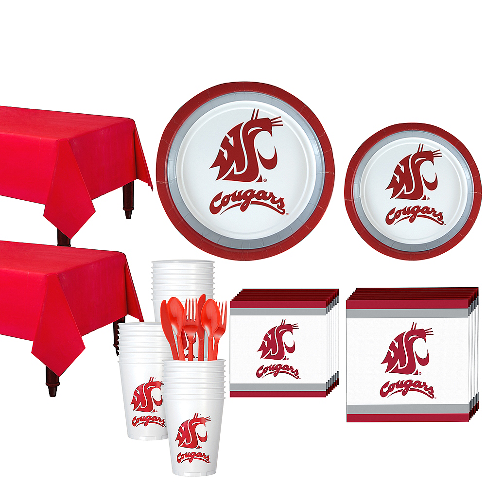 Washington State Cougars Party Kit for 40 Guests Image #1
