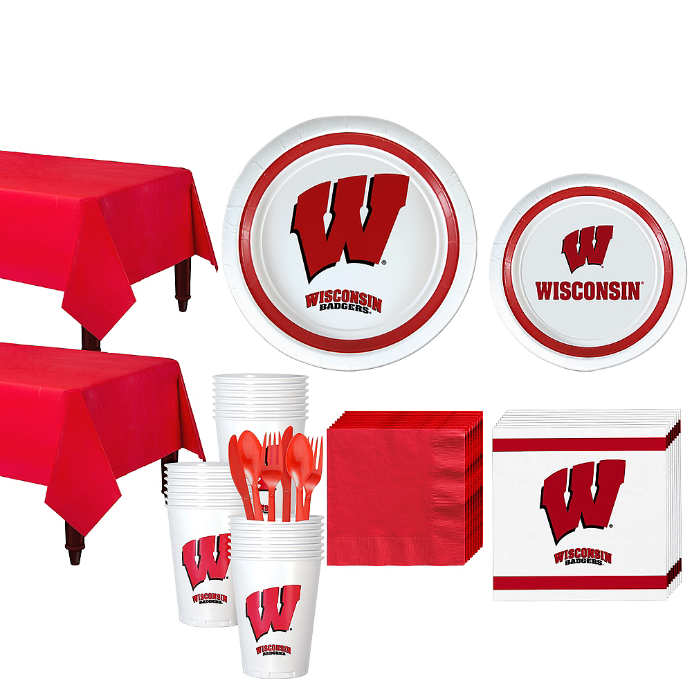 Wisconsin Badgers Party Kit for 40 Guests Image #1