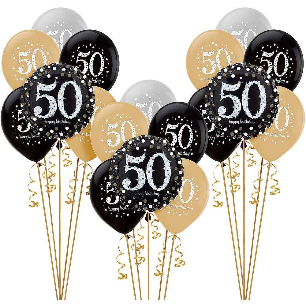 Nav Item For Sparkling Celebration 50th Birthday Balloon Kit Image 1