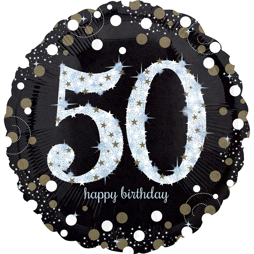 Sparkling Celebration 50th Birthday Balloon Kit Image #2