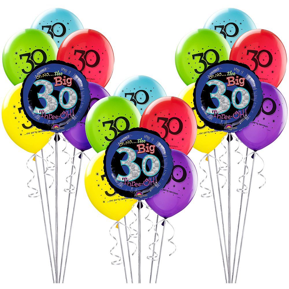 Nav Item For The Party Continues 30th Birthday Balloon Kit Image 1