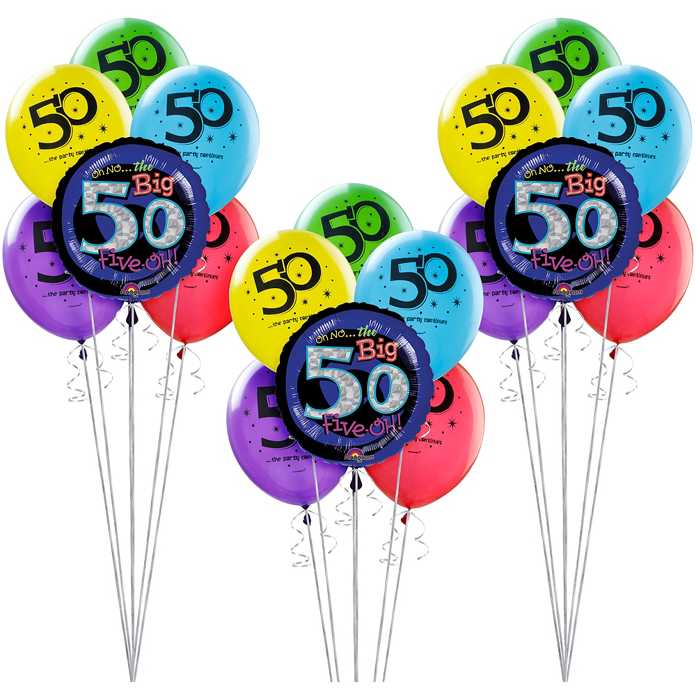 Nav Item For The Party Continues 50th Birthday Balloon Kit Image 1
