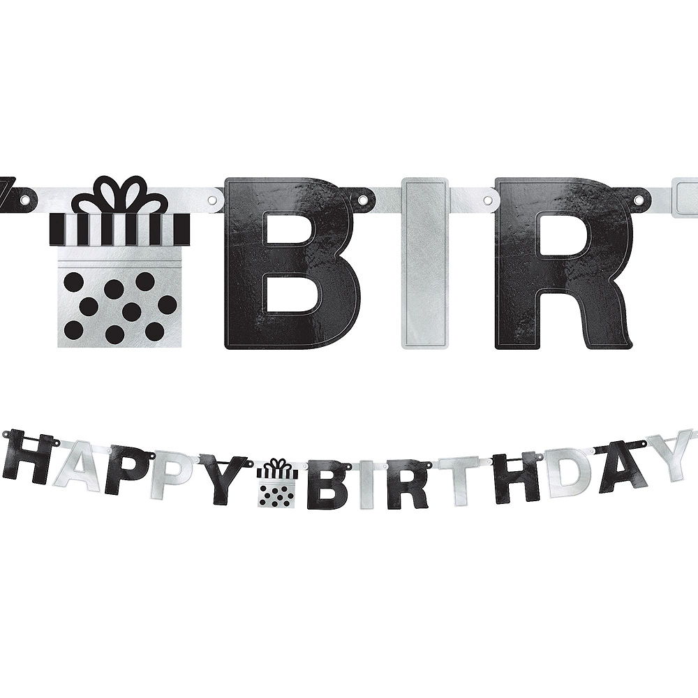 Chalkboard Dots Birthday Decorating Kit with Balloons Image #2