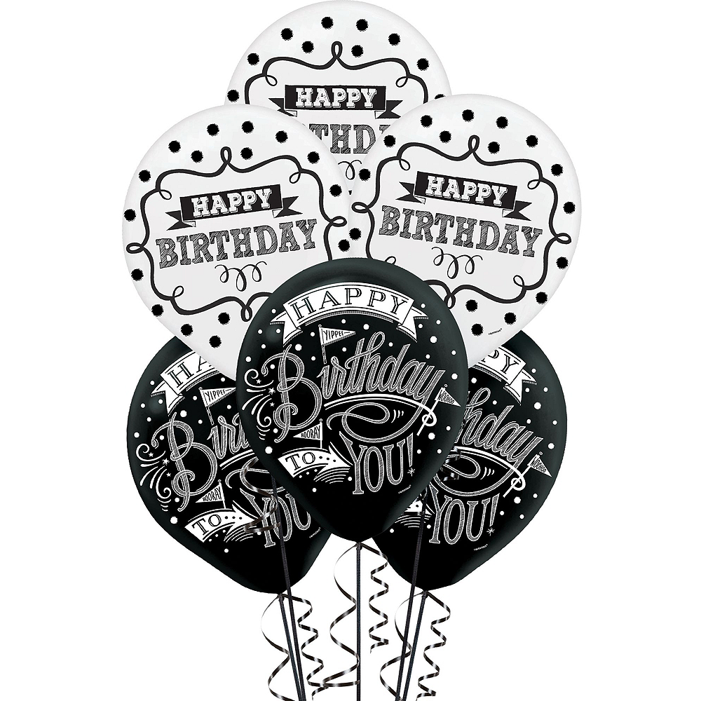 Chalkboard Dots Birthday Decorating Kit with Balloons Image #3