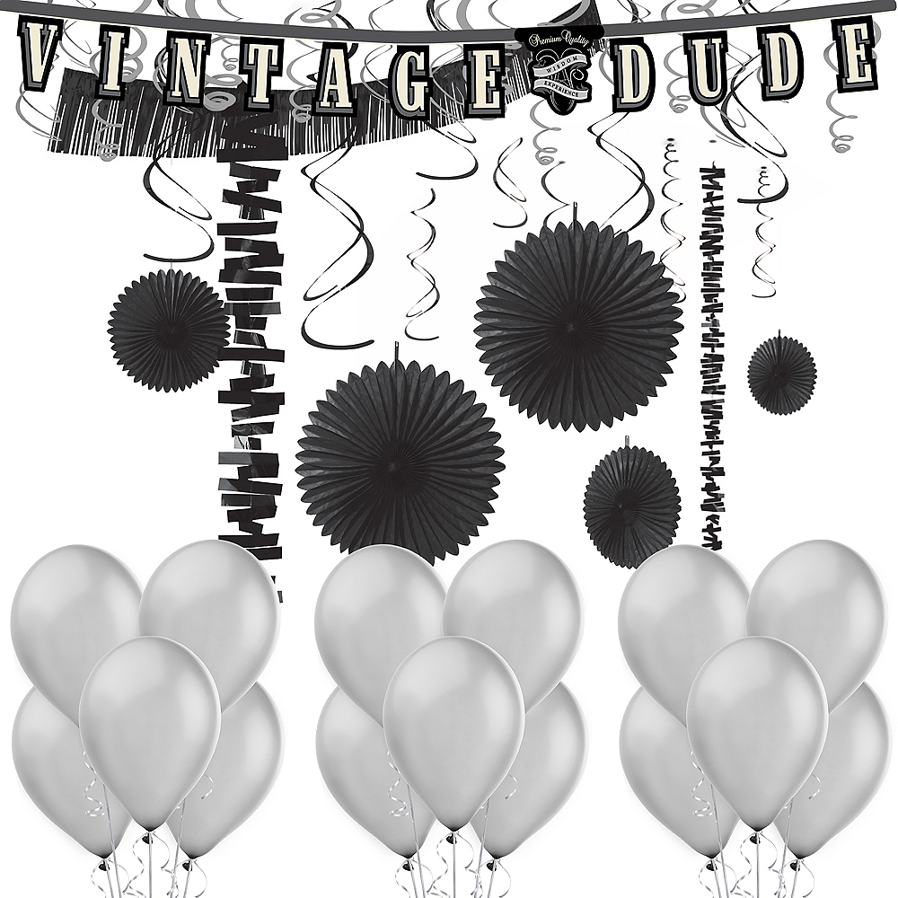 Vintage Dude Birthday Decorating Kit with Balloons Image #1
