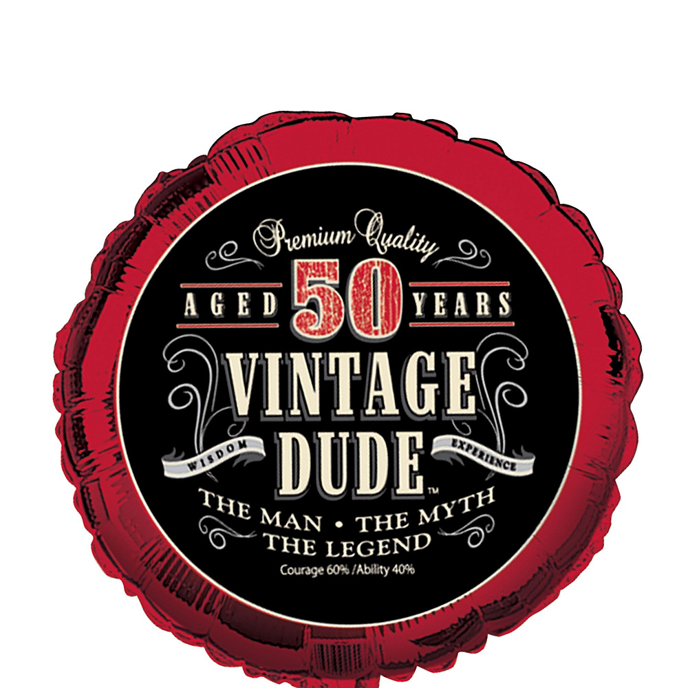 Vintage Dude 50th Birthday Decorating Kit with Balloons Image #2