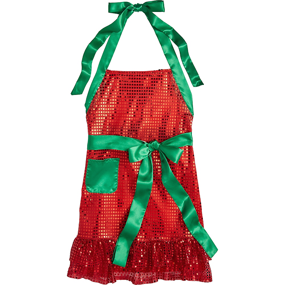 Nav Item for Sequin Christmas Apron Image #1