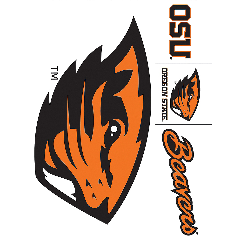 Oregon State Beavers Decals 5ct Image #1