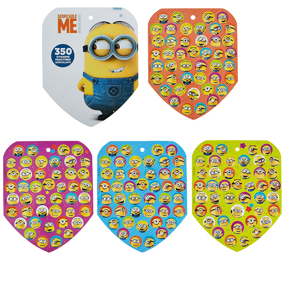Jumbo Despicable Me Sticker Book 8 Sheets Image #1