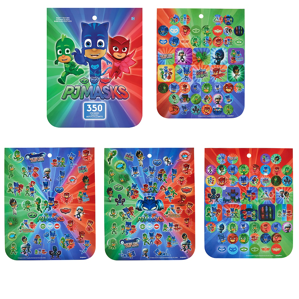Jumbo pj masks sticker book 8 sheets image 1