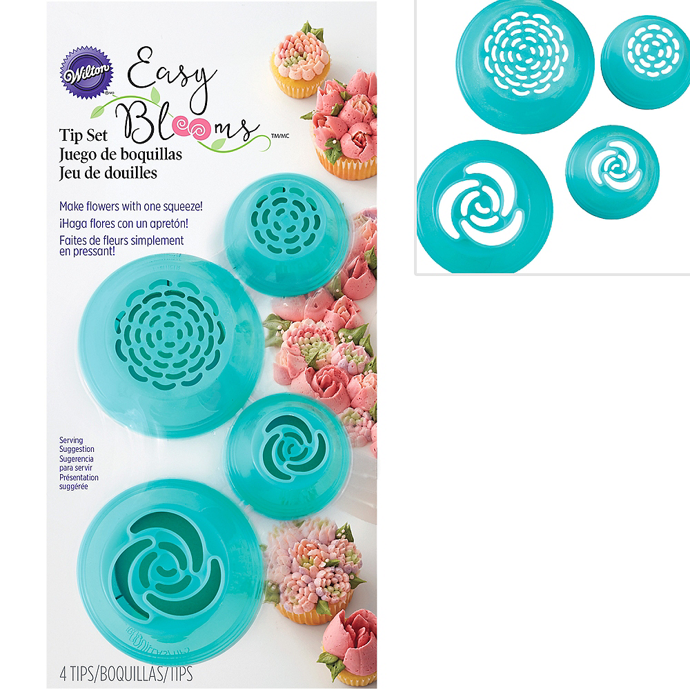 Wilton Easy Blooms Decorating Tip Set 4pc Image #1