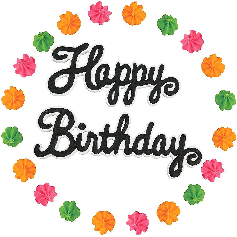 Wilton Happy Birthday Icing Decorations 22ct Image #1