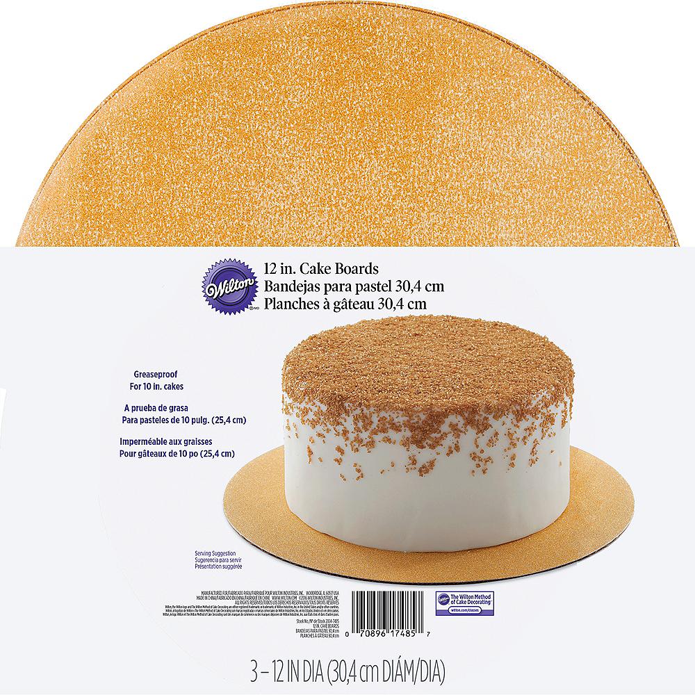 Wilton Glitter Gold Cake Boards 3ct Image #1