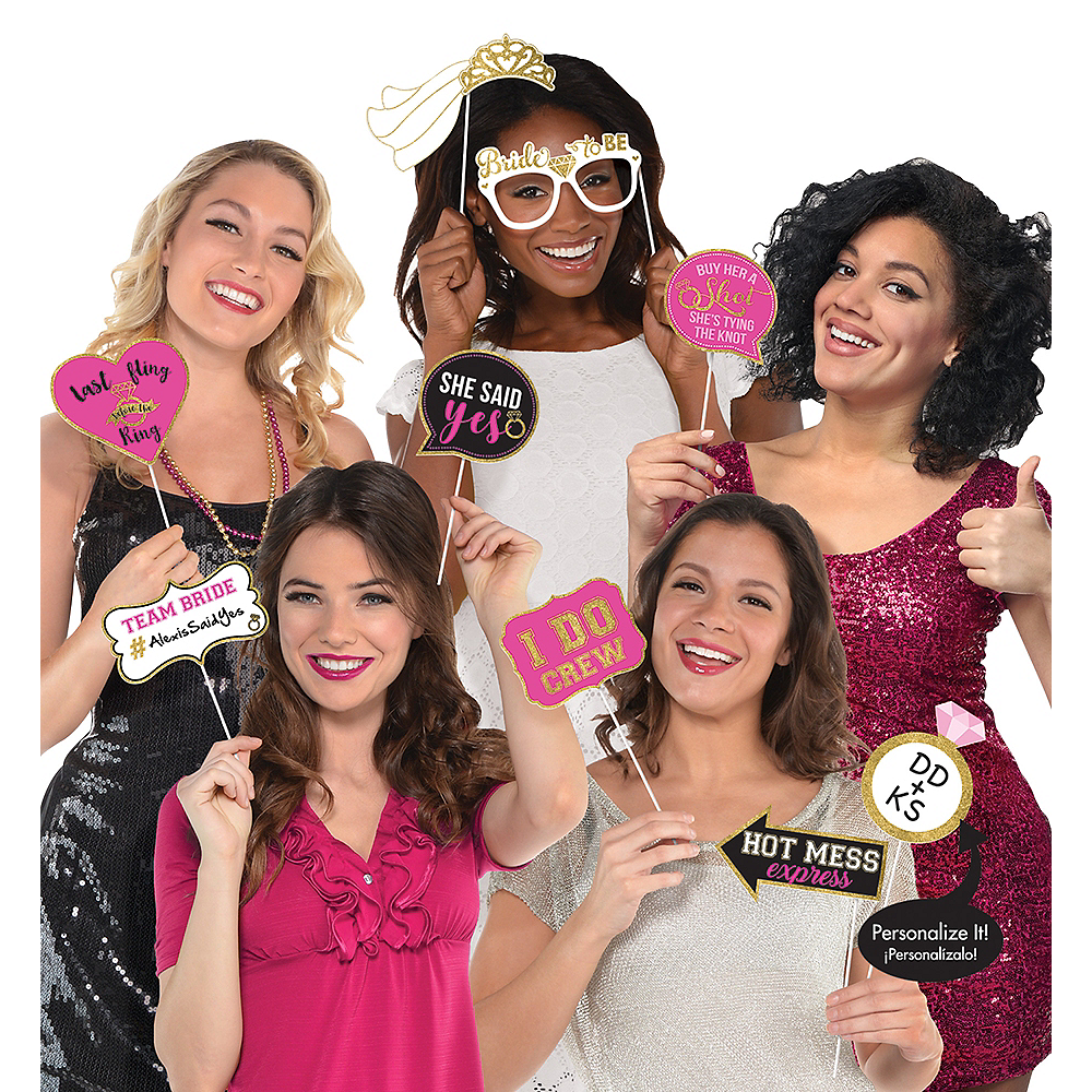 9b88591c Bachelorette Party Photo Booth Props 13ct | Party City