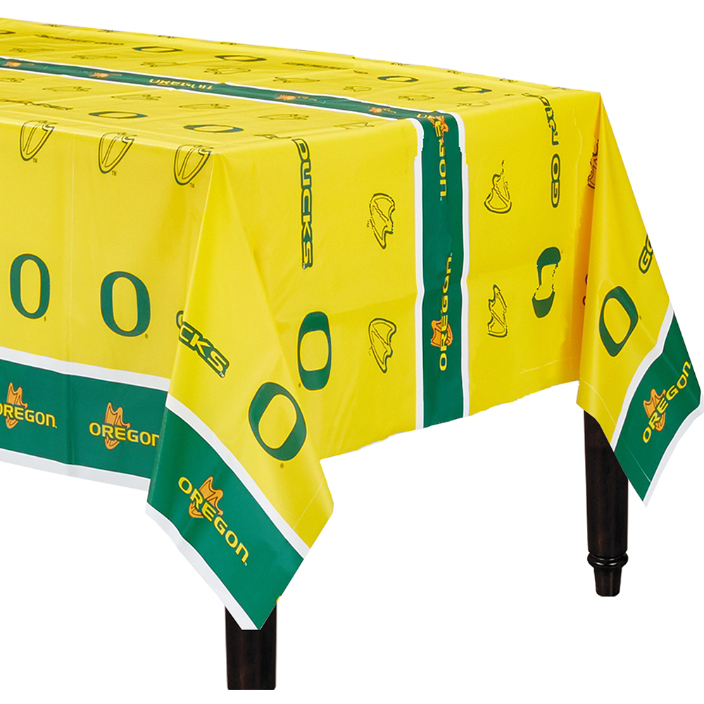 Oregon Ducks Table Cover 54in X 108in Party City