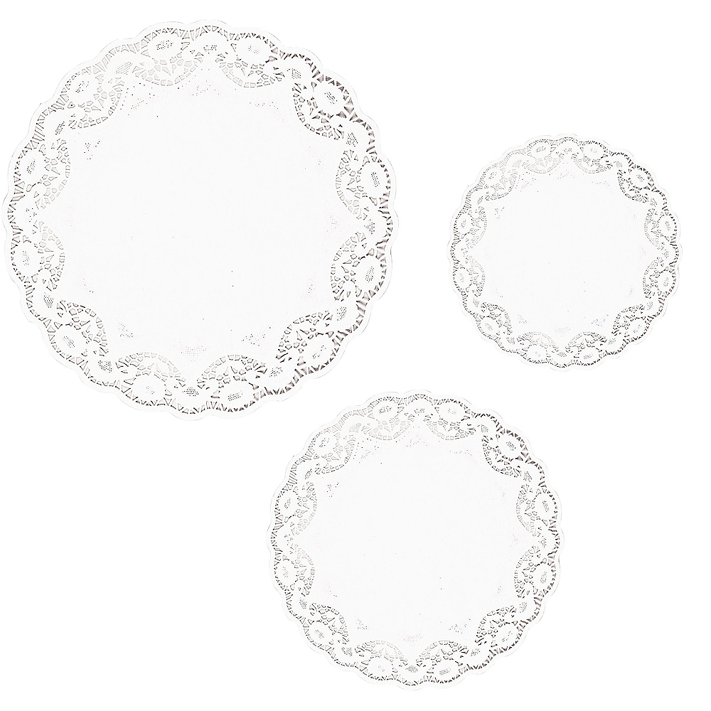 Nav Item for White Round Doilies 18ct Image #1