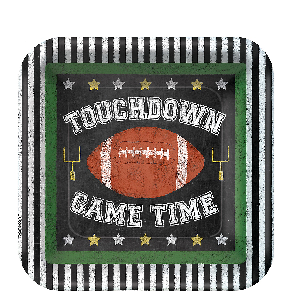 Football Game Time Dessert Plates 18ct Image #1