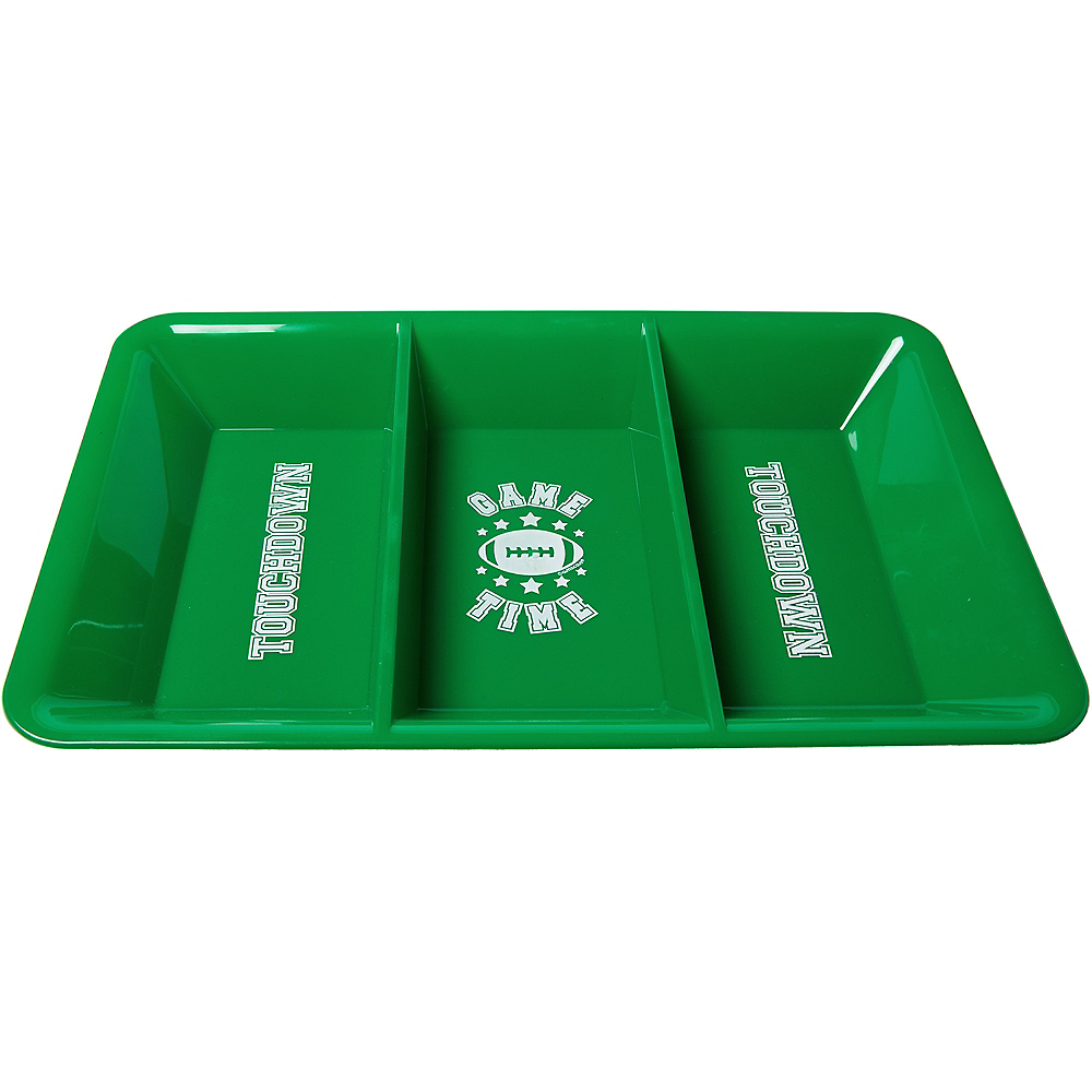 Football Game Time Divided Snack Tray Image #1
