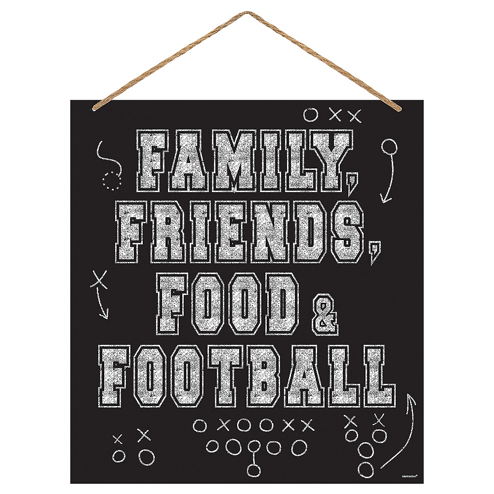 Family, Friends, Food & Football Sign Image #1