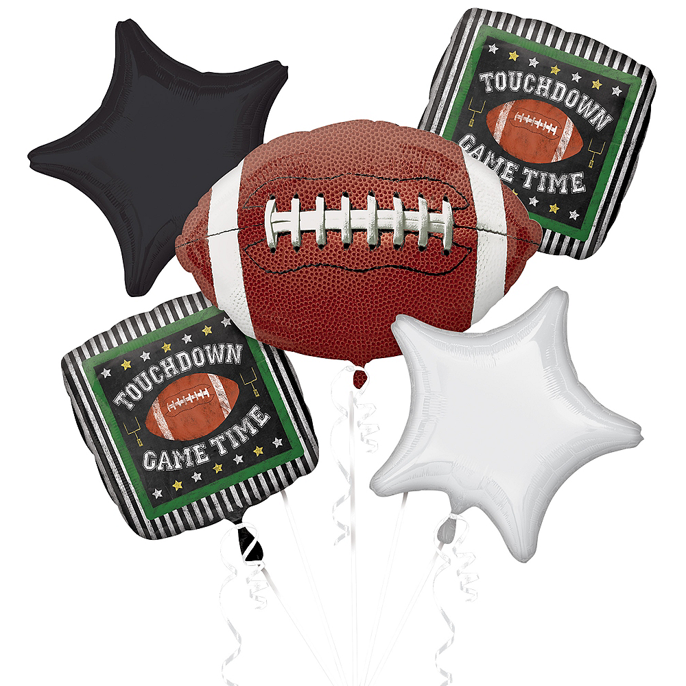 Football Game Time Balloon Bouquet 5pc Image #1