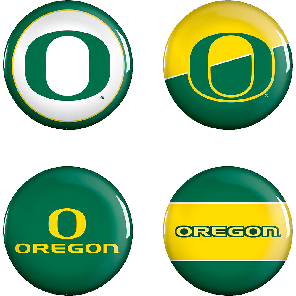Oregon Ducks Buttons 4ct Image #1