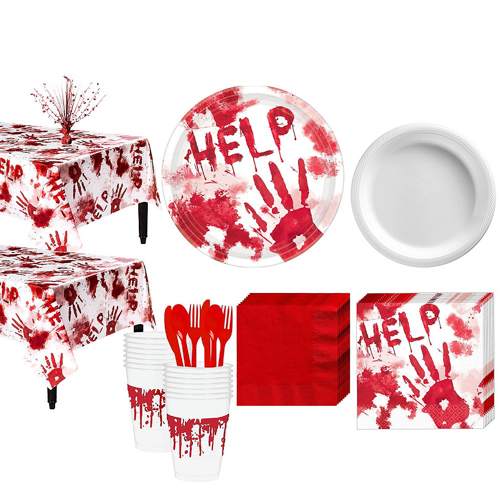 Nav Item for Bloody Hands Deluxe Party Kit Image #1
